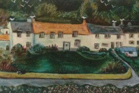 Boscastle Cottages Print