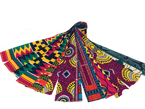 20-African Fabric Strips