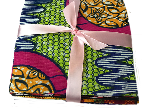 African Fabric Squares-40-4X4