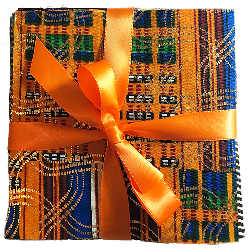 African Fabric Squares 40-2X2
