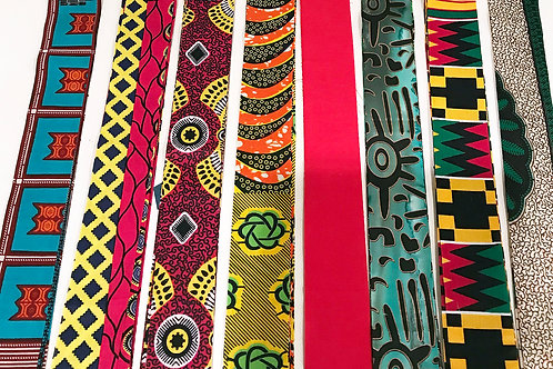 30-AFRICAN FABRIC STRIPS