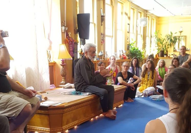Dharma mittra explaining