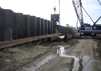 Sheet pile installation