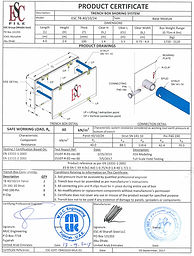 Trench Box Product Certificate