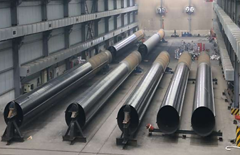 Painted SSAW pipe pile inspection
