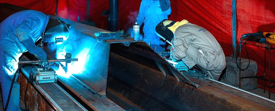 Sheet piles fabrication & welding