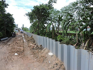 installed plastic sheet piles
