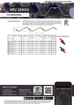 Hot Rolled  Sheet Pile Jagged Wall Datasheet