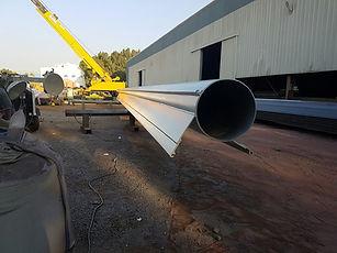 Fabrication of tubular corner pipes