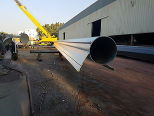 Fabricated tubular corner pipes