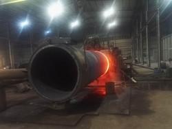 Heat induction bending