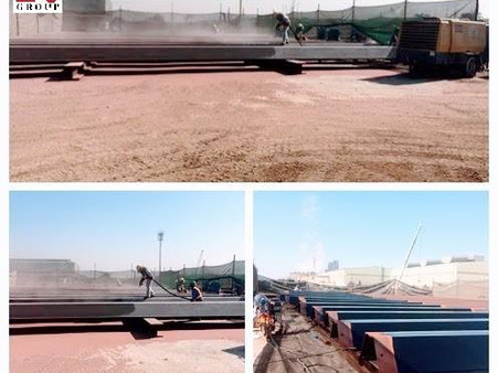 Blasting and Painting Works on ESZ-28 Sheet Piles