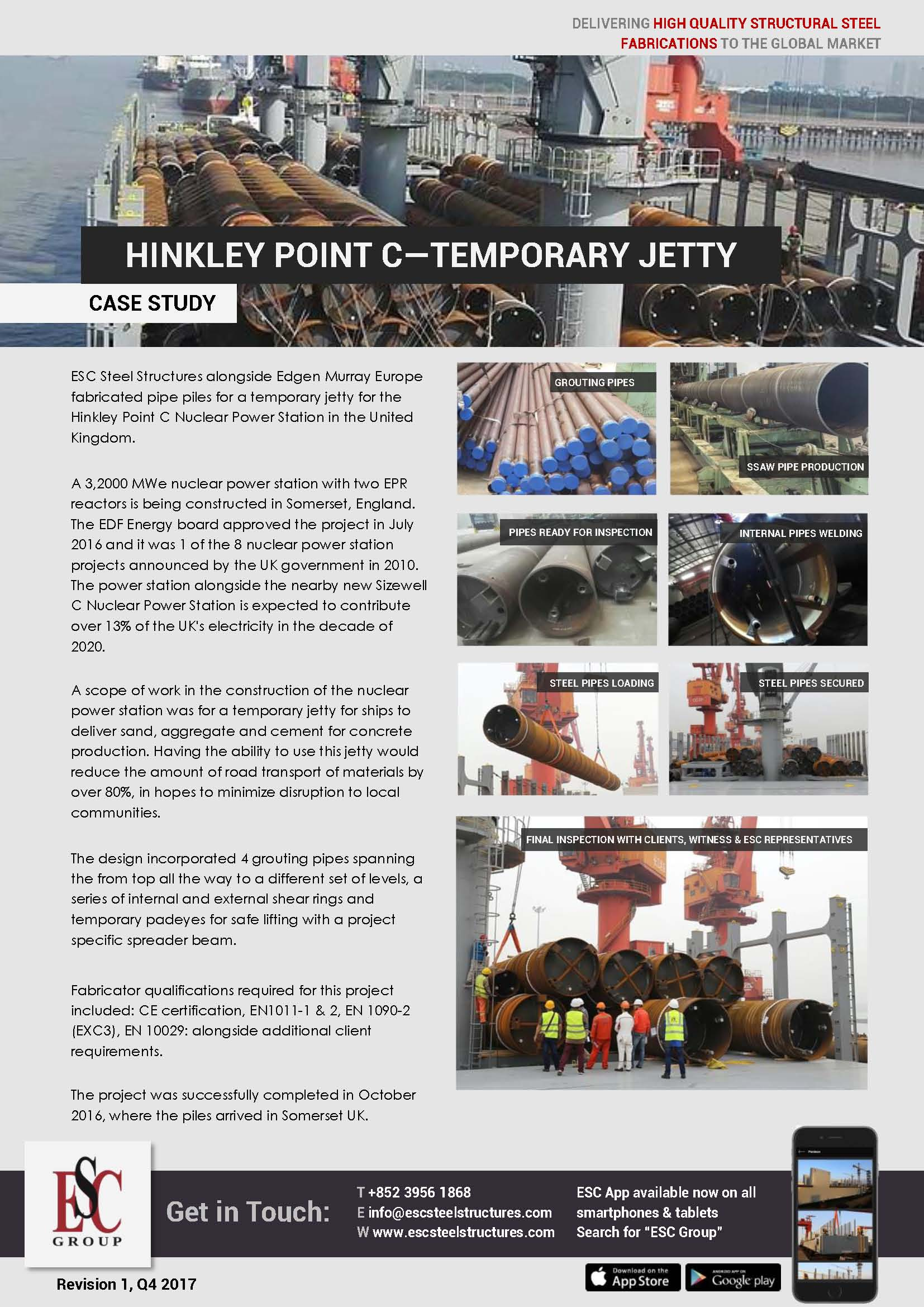 Hinkley Point C – Pieux tubulaires
