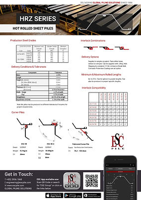 HRZ Sheet pile datasheet