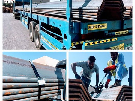 Supply of SP4w 18m length Sheet Piles