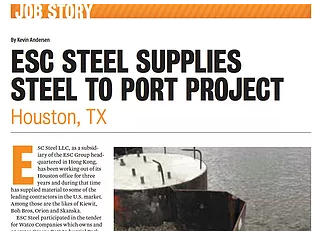 ESC Steel LLC appears in Pilebuck Magazine