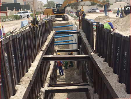 ESC Supplied Trench Sheets and Trench Boxes to EPS 6 and TSE Line from 5th Industrial Area STP to SE