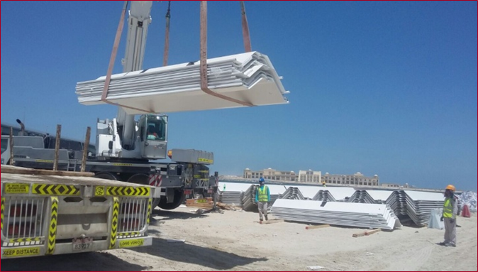 protective coating and fabrication of corner piles for palm deira access bridge