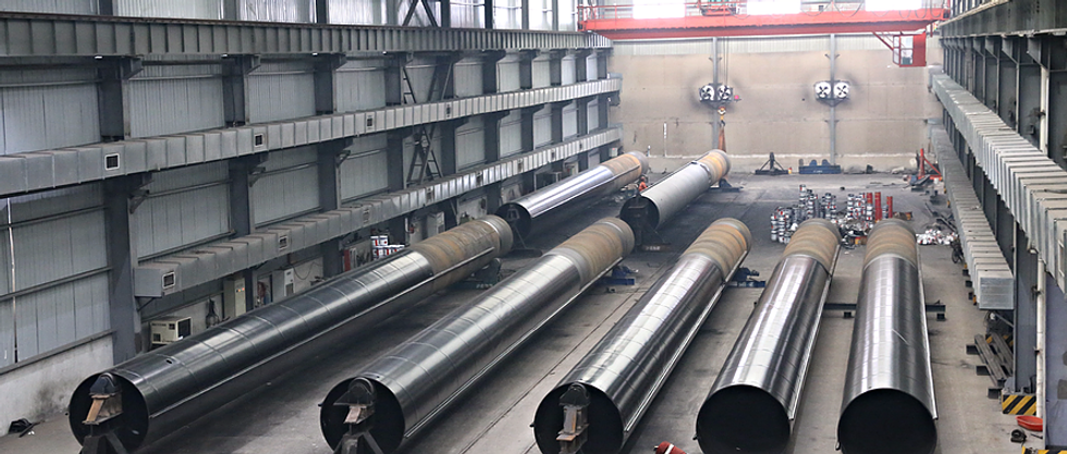 Steel pipe piles with protective coating