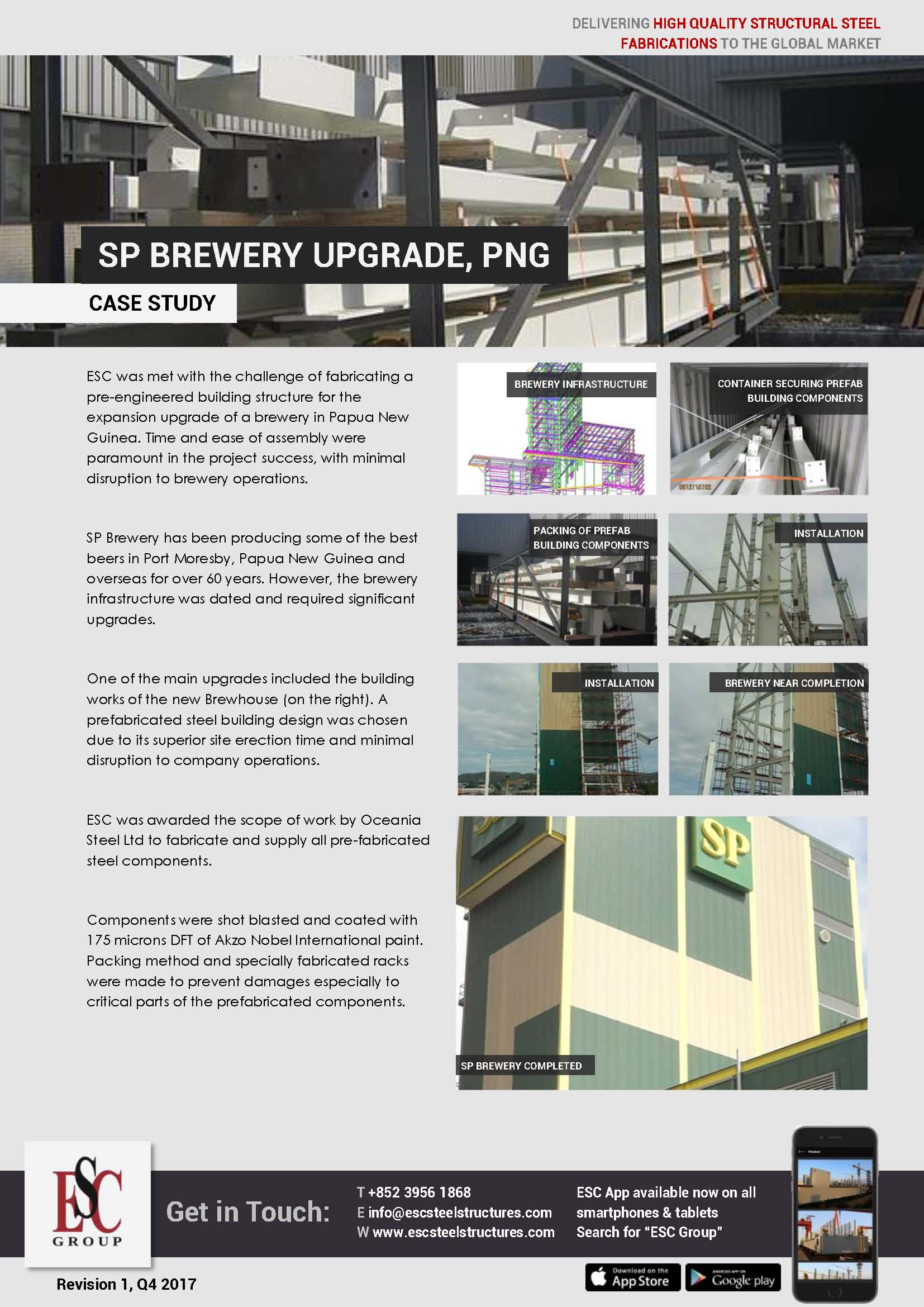 Modernisation de la brasserie SP