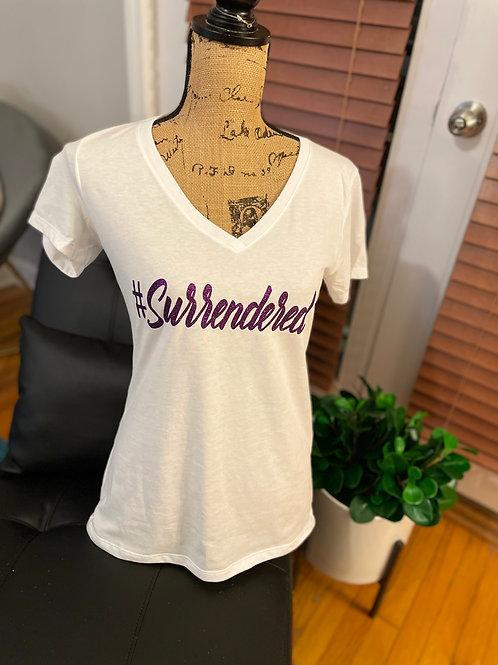 #Surrendered V-Neck Shirt - White