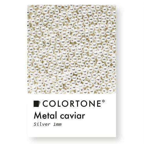 Metal caviar Silver 1mm
