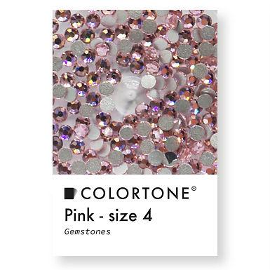 Pink - Size 4 - Colortone Gemstones