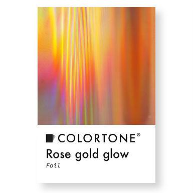Rose gold glow foil