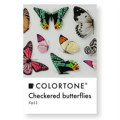 Clear Checkered butterflies foil