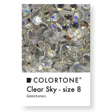 Clear Sky - Size 8 - Colortone Gemstones