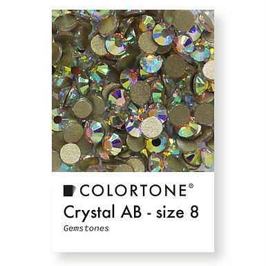 Crystal Aurora Borealis - Size 8 - Colortone Gemstones