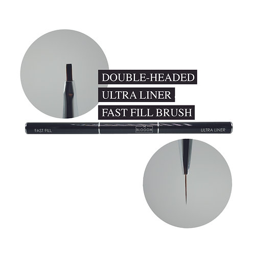 Double headed ultra liner & fast fill brush