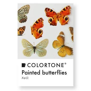Clear Painted butterflies foil
