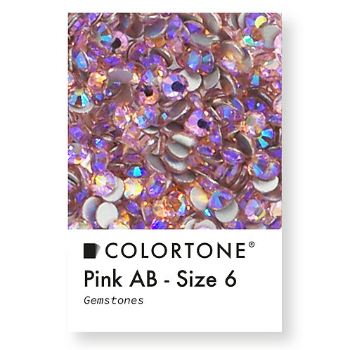 Pink Aurora Borealis - Size 6 - Colortone Gemstones