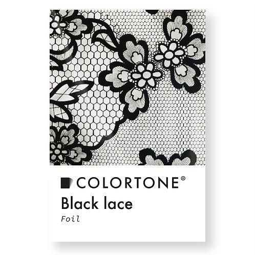Black lace foil