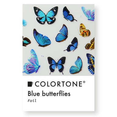 Clear Blue butterflies foil