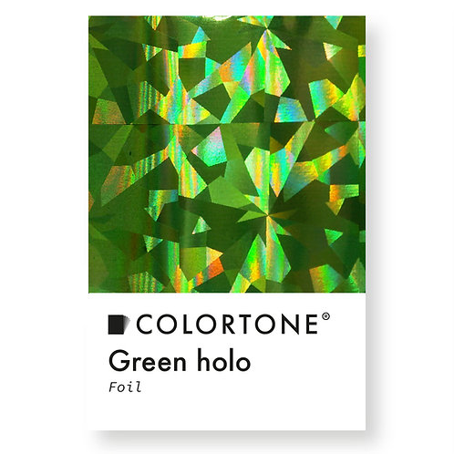 Green holo foil