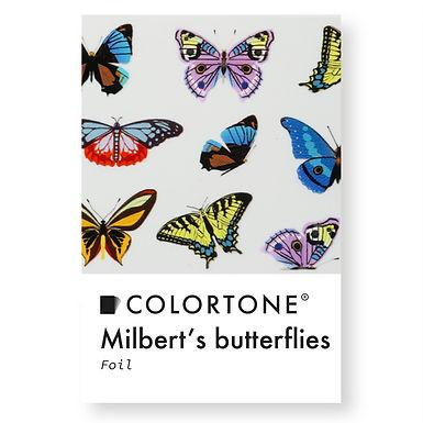 Clear Milbert's butterflies foil