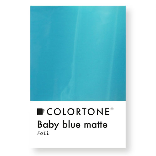 Baby blue matte foil