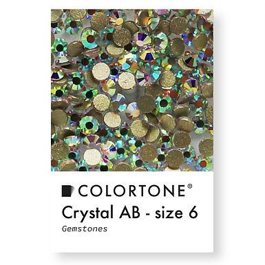 Crystal Aurora Borealis - Size 6 - Colortone Gemstones