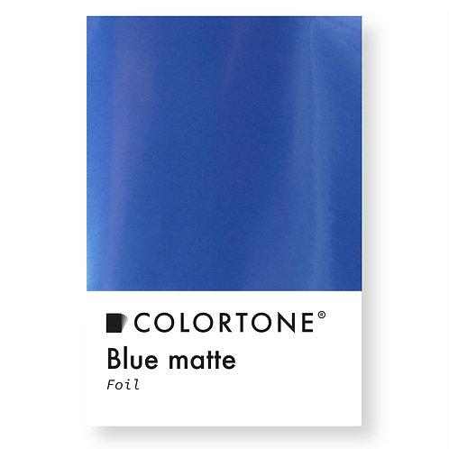Blue matte foil