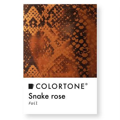 Snake rose foil