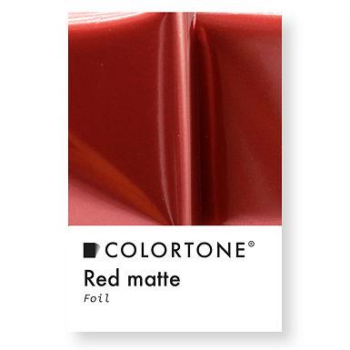Red matte foil