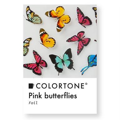 Clear Pink butterflies foil