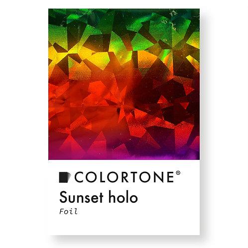 Sunset holo foil