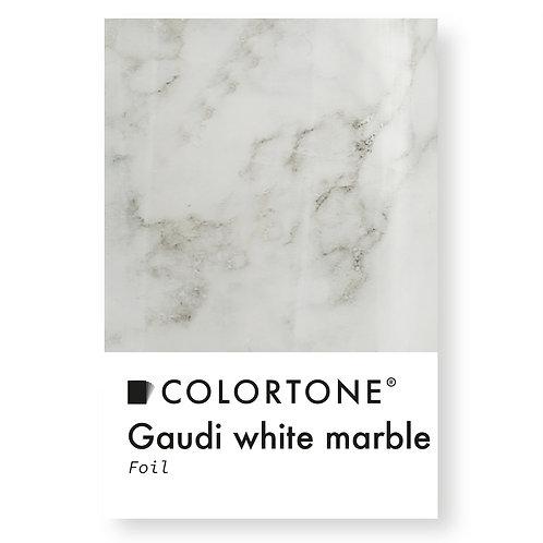 Gaudi white marble foil