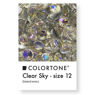 Clear Sky - Size 12 - Colortone Gemstones