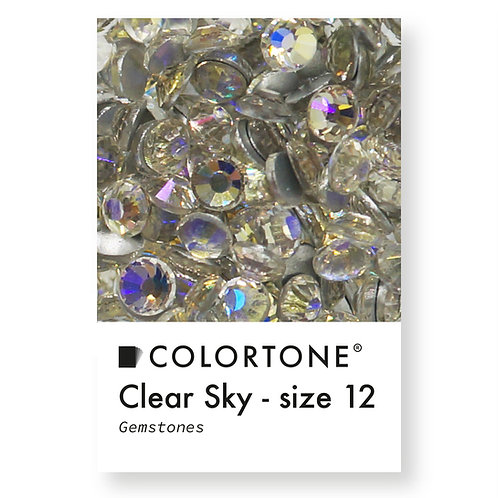 Clear Sky - Size 12 - Colortone Gemstones