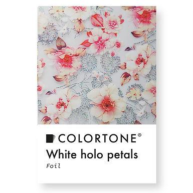 Clear White holo petals foil
