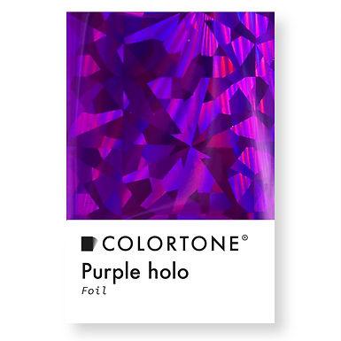 Purple holo foil